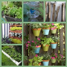 I am so itching to plant some herbs and veggies, but this weather is wreaking havoc on my plans. Meanwhile though, I'm gathering some inspiration from around the net, so check out these awesome garden ideas.