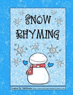 Cute snowman themed word cards that can be used to play concentration or used to do a word sort. The idea is to rhyme with