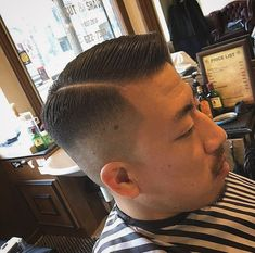 Slicked Hair, Slick Hairstyles, Men's Hairstyle, Undercut, Haircuts For Men, Asian Men, Hair Cuts, Kids, Fashion