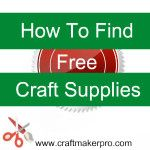 How To Find Free Craft Supplies Here are some ways you can save money on your crafting without stifling your creativity.craftmakerpro… Source by craftmakerpro Summer Crafts, Fun Crafts, Crafts For Kids, Arts And Crafts, Paper Crafts, Simple Crafts, Cardboard Crafts, Clay Crafts, Creative Crafts