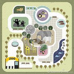 Flat design zoo map