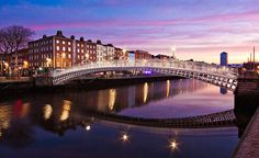 The Ha'penny Bridge at Dawn reflected in the still waters of the River Liffey. Fine art photography print by Barry O'Carroll. Popular Photography, Types Of Photography, Outdoor Photography, Landscape Photography, Art Photography, Travel Photography, Places To Travel, Places To Go, Famous Landmarks