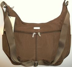 NEW BAGGALLINI Cargo Bag Tote Crossbody Shoulder Mocha Brown MRG880MU Travel NWT #Baggallini #MessengerCrossBody