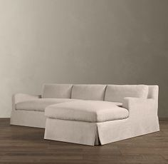 Belgian Slope Arm Slipcovered Right-Arm Sofa Chaise Sectional | Sectionals | Restoration Hardware