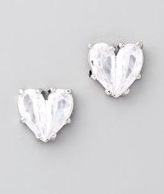 heart shaped diamond earrings #jewelry #jewels