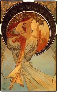 Poetry. From The Arts Series. 1898. Color lithograph.