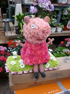 Peppa Pig by Four Seasons Florist using Bespoke Val Spicer Frame