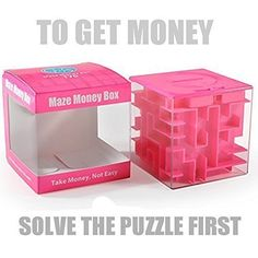 Trekbest Money Maze Puzzle Box  Amazing Puzzle Box for Kids as Christmas Gift Birthday Gift Pink * Click image to review more details.