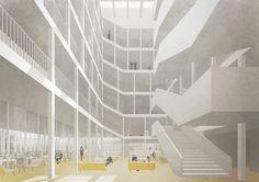 Atelier Bildbauer - Imagerie d'architecture - Image de concours pour la construction d'un nouvel établissement de formation à Saint-Loup - Avril 2017 - NB.ARCH