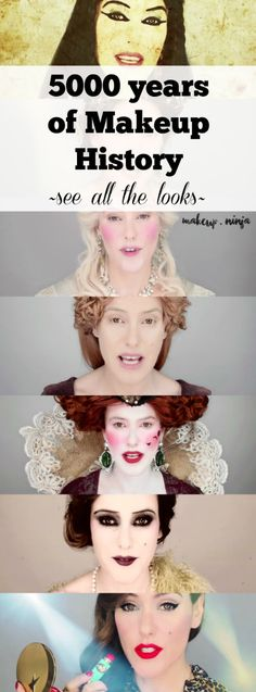 5000 years of Makeup History!  See all the looks as Lisa Eldridge demonstrates the history of makeup over time!  So cool!!