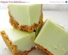 Mothers Day SALE Julie's Fudge - KEY LIME Pie w/Graham Cracker Crust - 12 Pieces (Over 1 Pound)