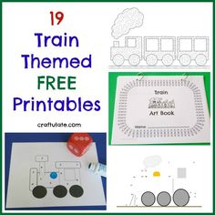 19 Train Themed Free Printables from Craftulate