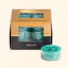 Balsam Fir Scented Tea Lights
