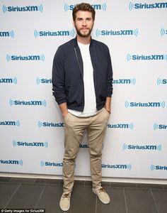 Looking good: Liam Hemsworth and his Independence Day: Resurgence cast members took part in a question and answer session at SiriusXM Studios