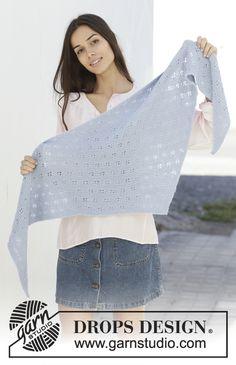 Ravelry: Caitlyn pattern by DROPS design Drops Design, Knitting Gauge, Knitting Books, Crochet Shawls And Wraps, Knitted Shawls, Knitting Patterns Free, Free Knitting, Knit World, Magazine Drops