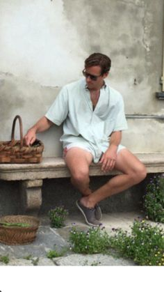Armie Hammer on set of Call Me By Your Name