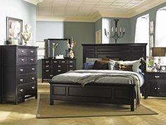 d5ca45e90a88 Klaussner Ashton King Size  Bedroom Set in Black Finish Black Furniture