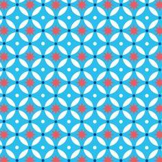 Dalle de sol PVC auto-adhésive déco design vintage, BLUE STARS