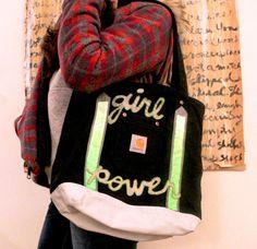 #DIY -- girl power tote  #Carhartt