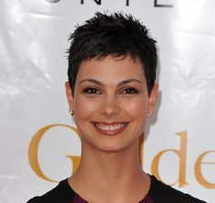 morena baccarin pixie cut/ hey Robin and Angela couldn't I wear my hair like this with the right mouse or something!!??