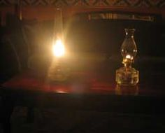 """I will own an """"Aladdin"""" Mantle Lamp someday. They're a godsend in a blackout because they produce 60W lightbulb quality light and use less fuel than a standard kerosene lamp (this photo shows a comparison). My grandparents had quite a collection of them, and during one visit as a child, we lit one because of a power outage. The neighbors asked us later if we had electric lights on."""