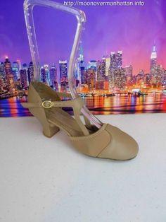Womens girls shoe CAPEZIO BROADWAY Flex Character $94 beige Stage Dance sz 4.5 M #Capezio