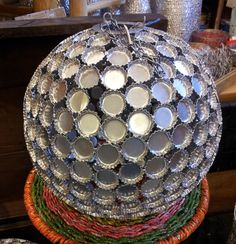DIY bottle cap chandelier