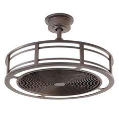 Outdoor/Indoor LED Light Kit Bladeless Ceiling Fan w/ Remote Chandelier Fixture #HomeDecoratorsCollection #ContemporaryModernNauticalTransitional