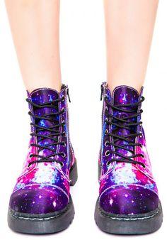T.U.K. Galaxy 7 Eye Boot | Dolls Kill
