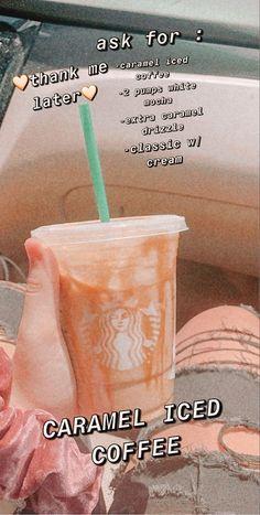 Comida Do Starbucks, Bebidas Do Starbucks, Healthy Starbucks Drinks, Yummy Drinks, Starbucks Hacks, Coffee Drink Recipes, Coffee Drinks, Iced Coffee, Starbucks Drinks Coffee