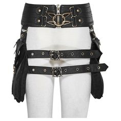 Nereid Waistbag Belt by Punk Rave ❤ liked on Polyvore featuring accessories, belts, punk belt, punk studded belt, studded belt and punk rock belts
