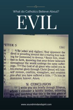 What do Catholics Believe about Evil