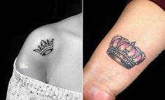 23 Creative Crown Tattoo Ideas for Women | StayGlam