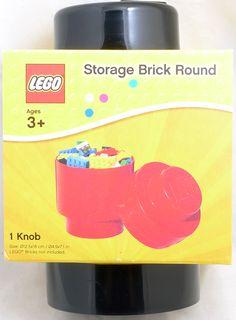 LEGO Storage Brick Round Black Container 000044 - Toysheik
