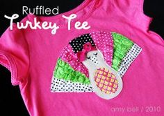 This Ruffled Feathers Appliqued T-shirt is TOO cute! Get your little girl or boy dressed up with Thanksgiving with this fun, fresh applique tutorial.