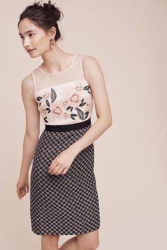 Moulinette Soeurs Loredana Dress Embroidered bodice with sheer yoke