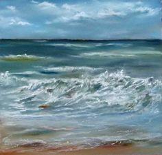 Unsere verkauften Bilder 2012   Gischt am Strand (c) Pastell von Hanka Koebsch #Pastell #pastel #ostsee #baltic