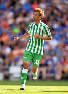 Takashi Inui of Real Betis looks for space during the Pre-Season Friendly  match between 0c9919019a9