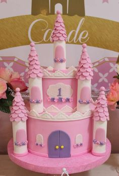 I adore this Princess cake at this Baptism Party!! See more party ideas and share yours at CatchMyParty.com