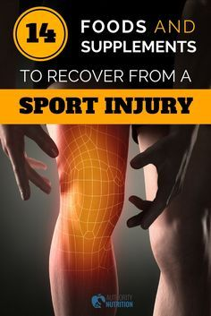 When it comes to sports, injuries are an unfortunate part of the game. Here are 14 foods and supplements to help you recover from an injury more quickly: https://authoritynutrition.com/foods-supplements-for-sports-injury/