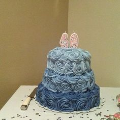 40th birthday cakes, Decorating websites and Birthday cakes on ...