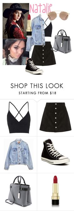 """""""Break"""" by thesassydiva ❤ liked on Polyvore featuring Topshop, AG Adriano Goldschmied, Levi's, Converse, Michael Kors, Dolce&Gabbana and Christian Dior"""