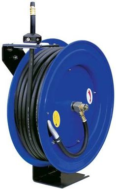 Black Friday 2014 3/8-Inch 100 Feet 100ft Retractable Reel w/ Rubber Air Hose from CYCLONE PNEUMATIC Cyber Monday