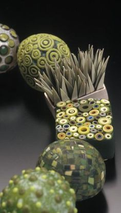 © Cynthia Toops - polymer clay, glass, sterling.