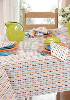 Attrayant Fiesta® Ditsy Stripe Table Linen Collection   Belk.com