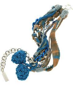 MISSONI | Braided multi-strand pompom bracelet