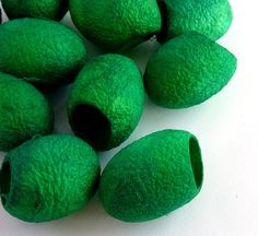 Silk Cocoons Emerald Green Art and Craft by SesenArtsandCrafts, $5.60