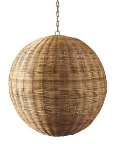A brilliant way to bring rattan home. The look is incredibly versatile, able to illuminate a dinner party, add warmth to a bedroom, or give your living room a coastal glow.