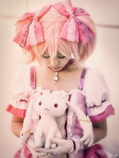 Image result for kyubey Kawaii Cosplay, Madoka Magica, Harajuku, Fictional Characters, Style, Image, Fashion, Swag, Moda