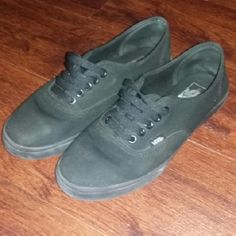 Vans All black low rise vans in good condition, only worn a few times! Vans Shoes